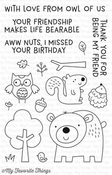 My Favorite Things Wild Woodland Clear Stamps (CS-225)