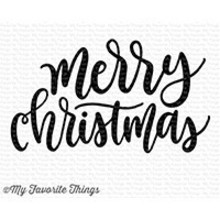 My Favorite Things Merry Christmas Greeting Clear Stamps (CS-241)