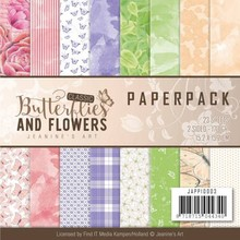 Jeanine's Art Classic Butterflies And Flowers 6x6 Inch Paper Pack (JAPP10003)