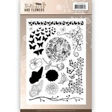 Jeanine's Art Classic Butterfly And Flowers Clear Stamp Set (JACS10008)