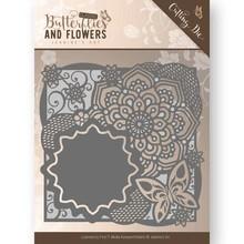 Jeanine's Art Classic Butterflies And Flowers Butterfly Frame Die (JAD10019)