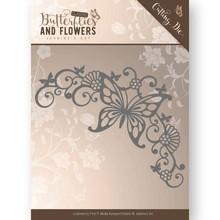 Jeanine's Art Classic Butterflies And Flowers Butterfly Corner Die (JAD10023)