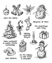 Stampers Anonimous Cling Stamps Tattered Christmas (CMS318)
