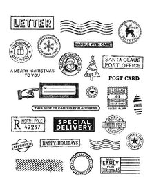 Stampers Anonimous Cling Stamps Holiday Postmarks (CMS323)