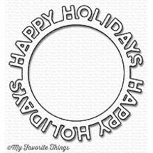 My Favorite Things Die-Namics Happy Holidays Circle Frame (MFT-1190)