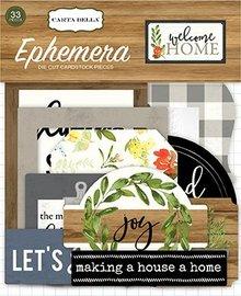 Carta Bella Welcome Home Ephemera (CBWHO74024)