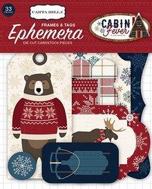 Carta Bella Cabin Fever Ephemera Frames & Tags (CBCF73021)