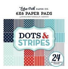 Echo Park Dots & Stripes Winter 6x6 Inch Paper Pad (DS170162)