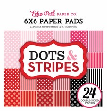 Echo Park Dots & Stripes Valentine 6x6 Inch Paper Pad (DS170182)
