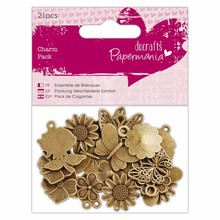 Papermania Charm Pack Flowers & Butterflies (21pcs) (PMA 356014)