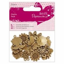 Papermania Charm Pack Flowers & Butterflies (21pcs) (PMA 356014)