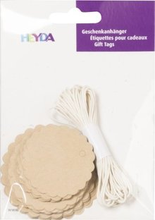 Heyda Gift Tags Rond Naturel (204870732)
