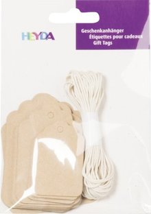 Heyda Gift Tags Langwerpig Naturel (204870735)