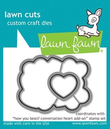 Lawn Fawn How You Bean? Conversation Heart Add-On Dies (LF1554)