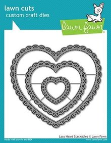 Lawn Fawn Lacy Heart Stackables Dies (LF1562)