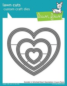 Lawn Fawn Outside In Stitched Heart Stackables Dies (LF1563)