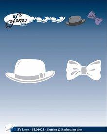 By Lene Metal Dies Bowler Hat & Bow Tie (BLD1023)