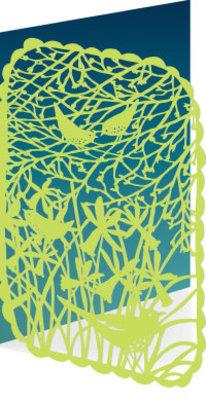 Roger La Borde Spring Birds Lasercut Card (GC 1971)