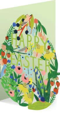 Roger La Borde Easter Garden Egg Lasercut Card (GC 1978E)