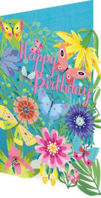 Roger La Borde Summer Birthday Garden Lasercut Card (GC 1985)