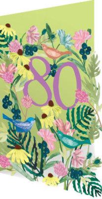 Roger La Borde 80 Birds & Flowers Lasercut Card (GC 1992)