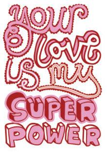 Roger La Borde Super Power Love Greeting Card (GCN 104)