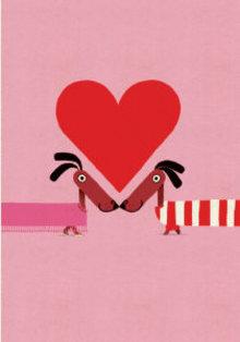 Roger La Borde Odd Dog Love Greeting Card (GCN 154)