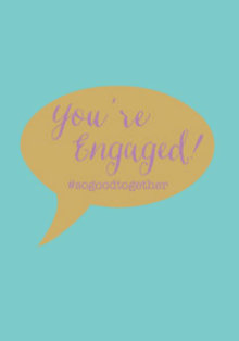 Roger La Borde Engagement Speech Bubble Greeting Card (GCN 218)