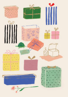 Roger La Borde Birthday Presents Greeting Card (GCN 223)