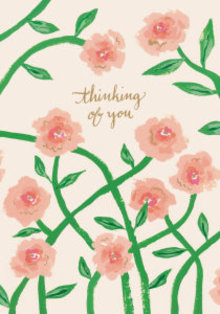 Roger La Borde Pink Peonies Greeting Card (GCN 226)