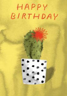 Roger La Borde Cactus Pot Greeting Card (GCN 228)