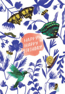 Roger La Borde Birds Bees And Butterflies Greeting Card (GCN 229)