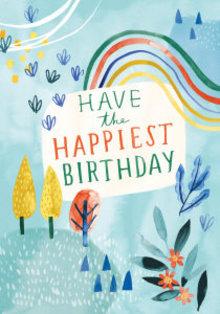 Roger La Borde Rainbow Birthday Greeting Card (GCN 230)