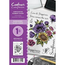 Crafter's Companion Sunkissed Sunflower Unmounted Rubber Stamp Set (CC-ST-SUSU)