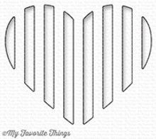My Favorite Things Die-Namics Peek-a-Boo Striped Heart (MFT-1241)