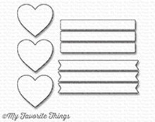 My Favorite Things Die-Namics Hearts In A Row Vertical (MFT-1246)