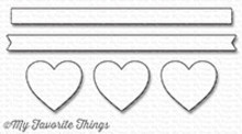 My Favorite Things Die-Namics Hearts In A Row Horizontal (MFT-1247)