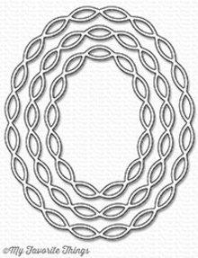 My Favorite Things Die-Namics Linked Chain Oval Frames (MFT-1251)
