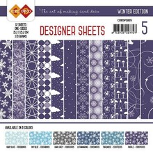 Card Deco Winter Edition Paars 6x6 Inch Designer Sheets (CDDSPS005)