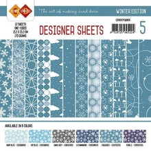 Card Deco Winter Edition Turquoise 6x6 Inch Designer Sheets (CDDSTQ005)