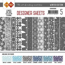 Card Deco Winter Edition Donkergrijs 6x6 Inch Designer Sheets (CDDSDG005)