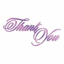 Couture Creations Hot Foil Stamp Thank You (CO725822)
