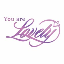 Couture Creations Hot Foil Stamp You are Lovely (CO725823)