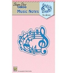 Nellie Snellen Shape Die Blue Music Notes (SDB017)