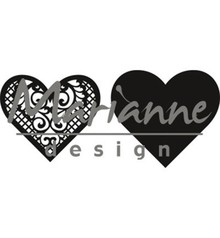 Marianne Design Craftable Lace Heart (CR1428)