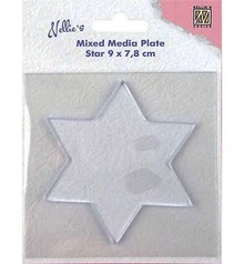 Nellie Snellen Mixed Media Plate Star 8,8cm (NMMP007)