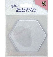 Nellie Snellen Mixed Media Plate Hexagon 8,8cm (NMMP008)