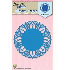 Nellie Snellen Shape Die Blue Round Lace Flower Frame (SDB025)