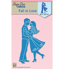 Nellie Snellen Shape Die Blue Fall In Love (SDB031)