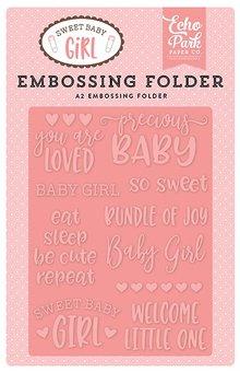 Echo Park Sweet Baby Girl Precious Baby 12,7x14,9 cm Embossing Folder (SBG142031)